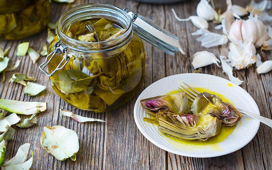 Conservas de alcachofas en aceite de oliva