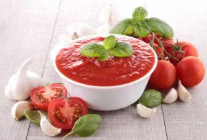 Salsa de tomate alto contenido en licopeno